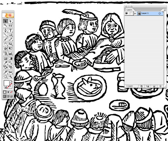 Line Art Adobe Illustrator : Live trace in illustrator create accurate line art tracings