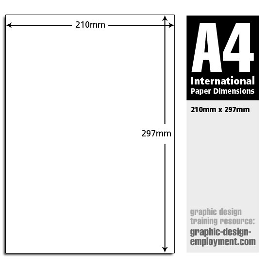 dimensions of a4 paper For ease of use in office equipment, file folders and storage cabinets, paper sizes need to use a standardized system so that one sheet of paper will be consistent with the next.