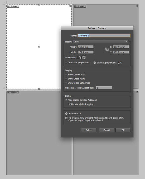 How to change document size in Illustrator with Multiple Artboards