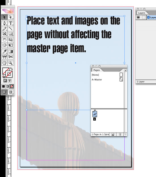 InDesign Transparency Background Image Work