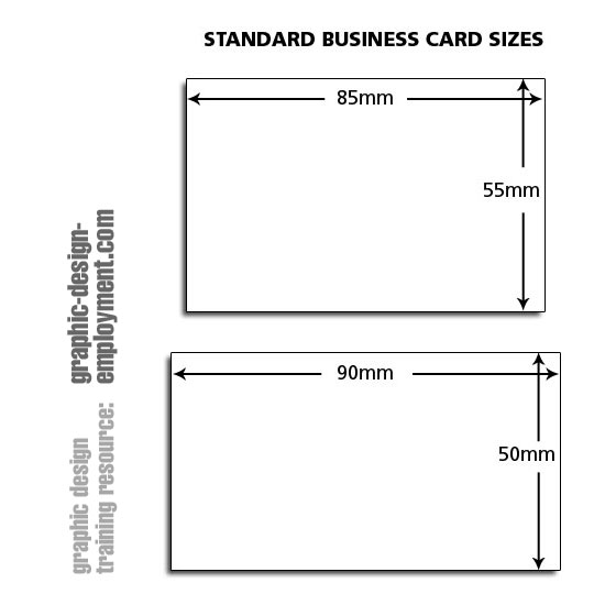 Business Card Standard Sizes