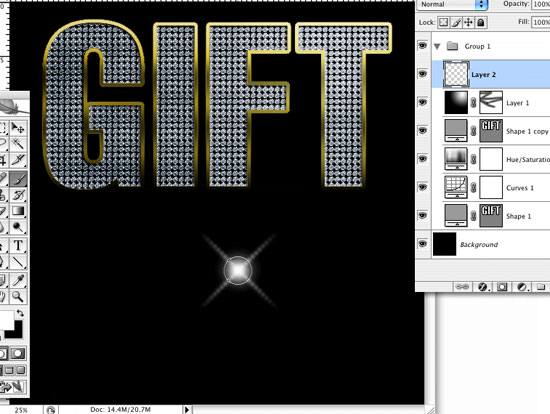 Create sparkles in Photoshop