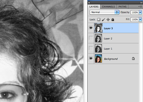 Cutting Out Hair in Photoshop - Copy channels to new layers