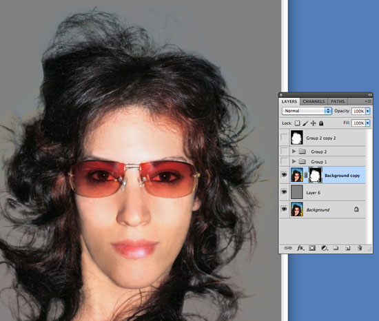 Cutting Out Hair in Photoshop - Multiply out some unwanted detail