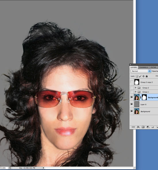 Cutting Out Hair in Photoshop - Using Dodge, Burn and Sponge