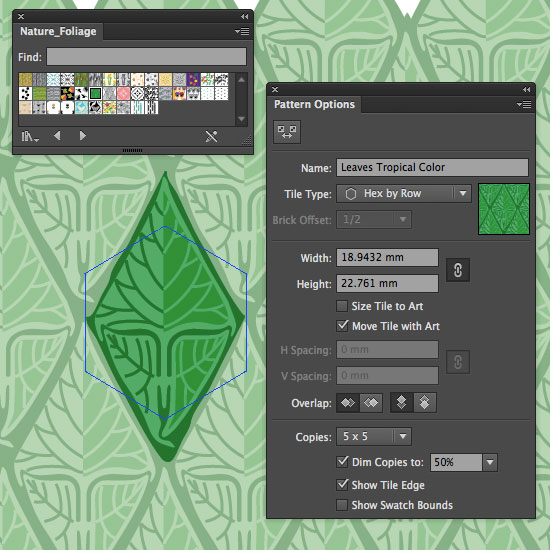 Editing pattern presets in Illustrator CS6