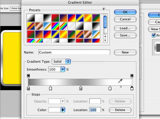 Create a layer style outer gradient stroke