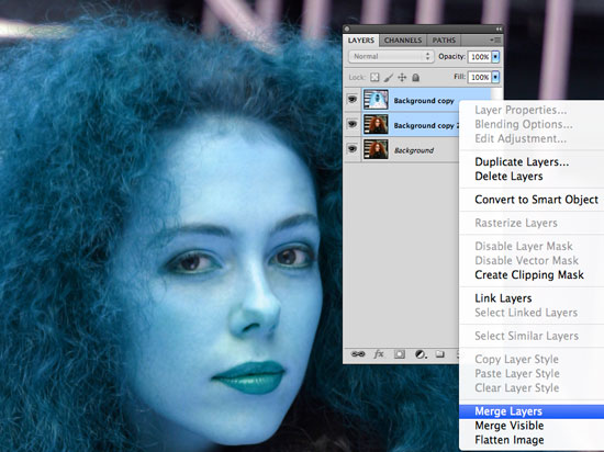 How to Cut Out Hair in Photoshop - Select Color Blend Mode