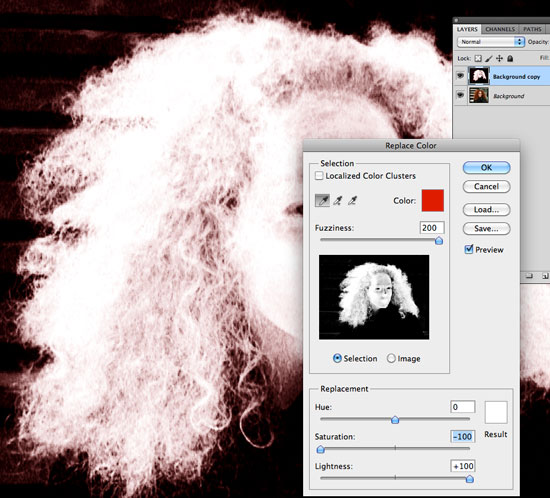 How to Cut Out Hair in Photoshop - Replace Color 02