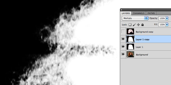 How to Cut Out Hair in Photoshop - Block out areas of white and black