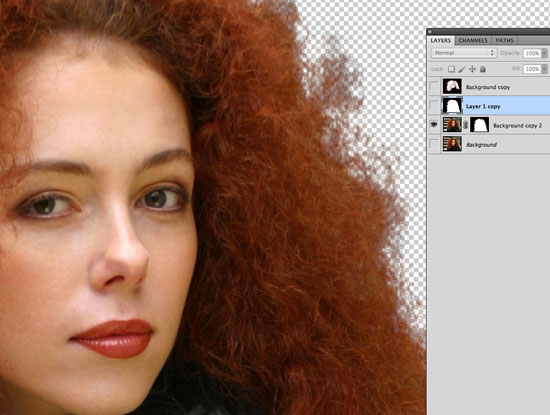 How to Cut Out Hair in Photoshop - create a layer mask