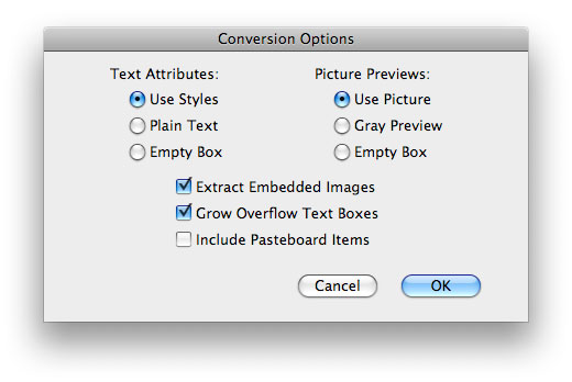 InDesign to Quark - convert with the ID2Q Quark XPress