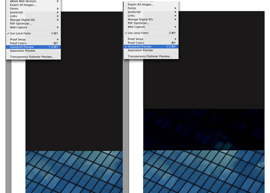 over printing problems and solutions in quark  indesign