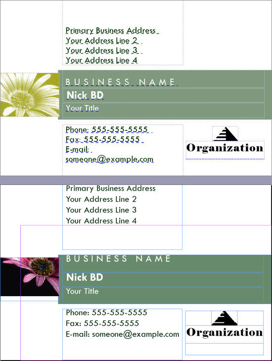Business Card Publisher File