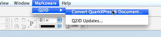 Convert Quark XPress with Q2ID