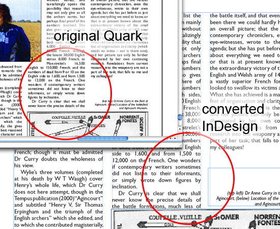 Convert Quark to InDesign - Quark File Conversion Problems