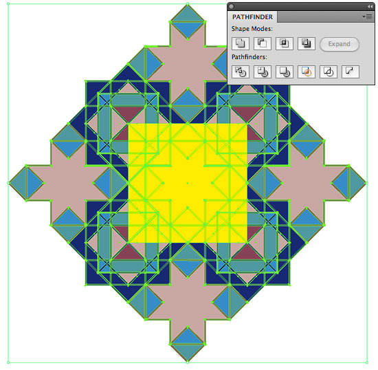 Using the Pathfinder Crop Tool
