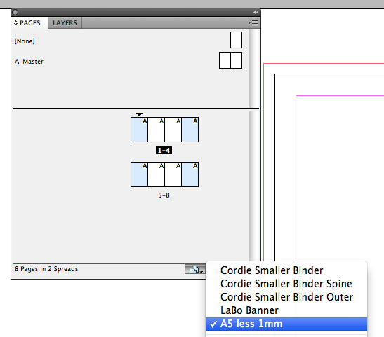 Apply a custom page size in InDesign CS5