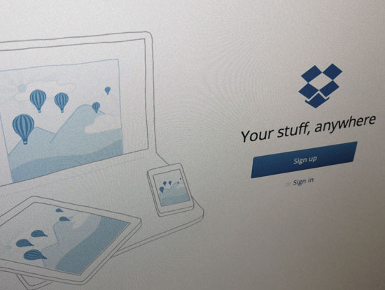 Dropbox file sharing utility