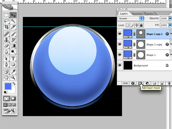 create a glass photoshop button using layer styles and