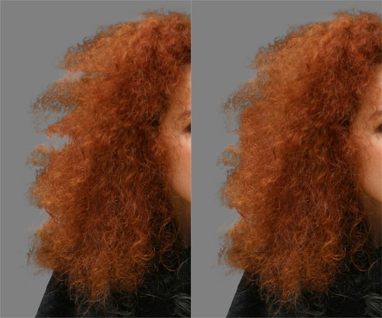 How to Cut Out Hair in Photoshop - highlight problem areas