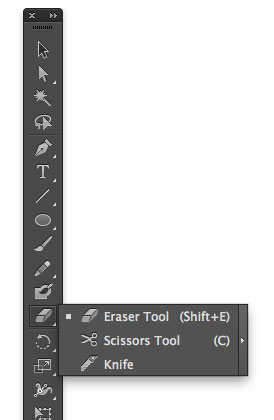 Illustrator How to Cut a Shape Tools