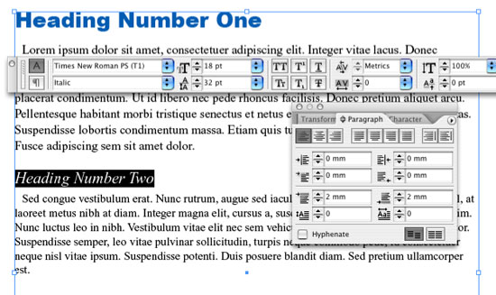 InDesign Style Sheets Tutorial