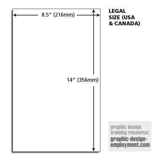 legal paper dimensions