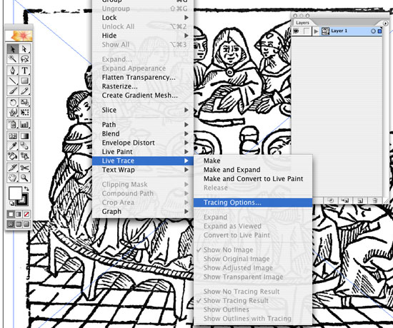 Drawing Lines In Illustrator : Live trace in illustrator create accurate line art tracings