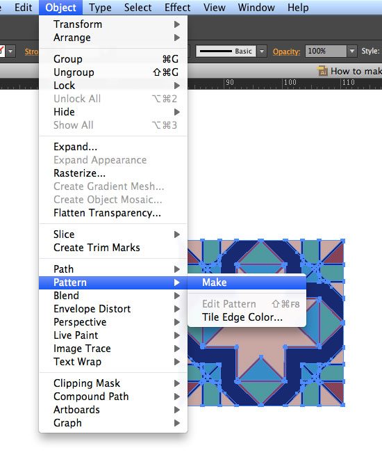 Make Pattern in Illustrator CS6
