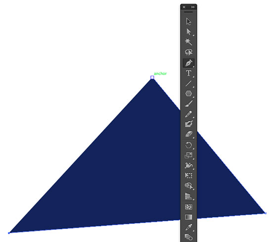 Making a triangle with the pen tool