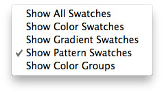 Pattern Swatches Options