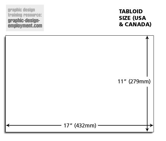 Tabloid Paper Dimensions